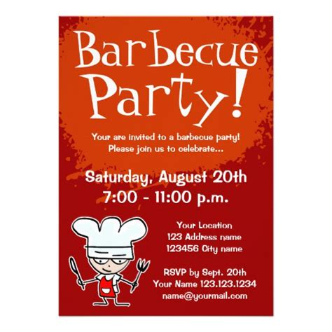 barbecue invitation template barbecue invitations bbq invites 5 quot x 7