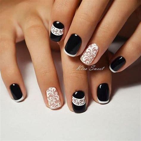 nägel matt schwarz wzory na paznokcie hybrydowe najpiękniejsze kolory i motywy
