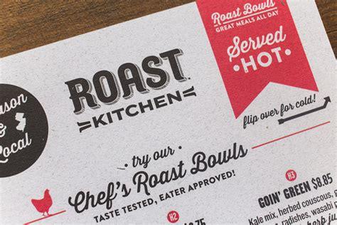 of the menu roast kitchen