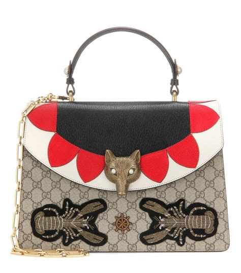 Gucci Broche Gg Leather Ss17 Bag 865 broche gg supreme leather shoulder bag gucci mytheresa
