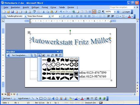 logos mit wordart gestalten