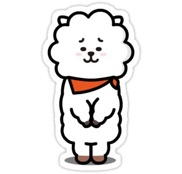 """""""bt21 rj"""" stickers by dtowns   redbubble"""