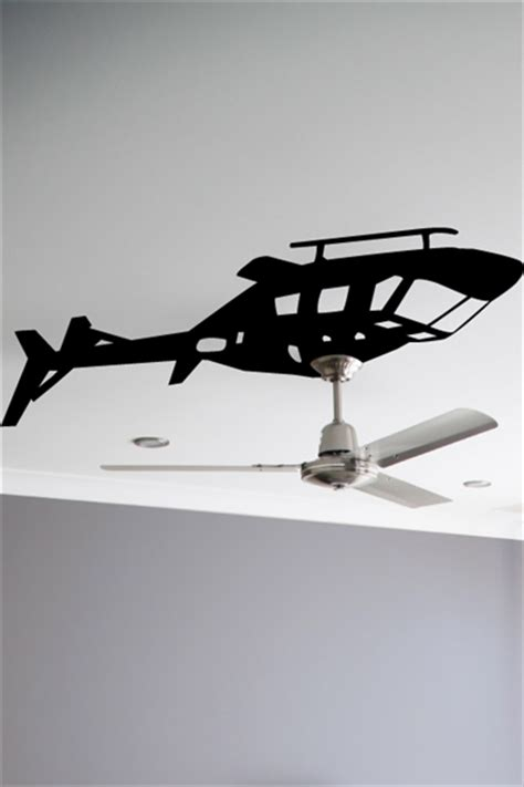 wall tat helicopter ceiling fan wall decals wall stickers