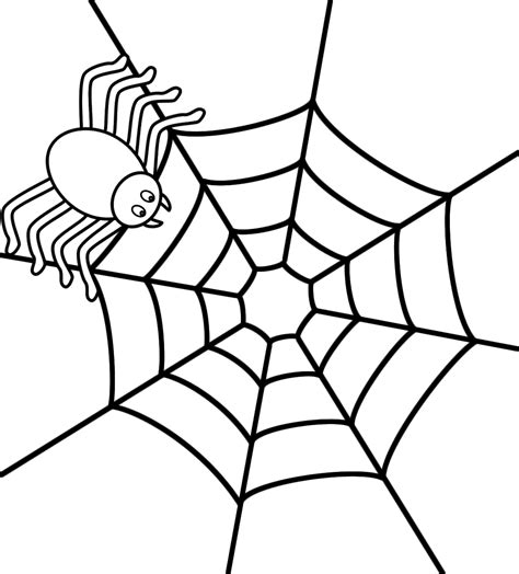 happy spider coloring page spider web clipart halloween coloring pencil and in
