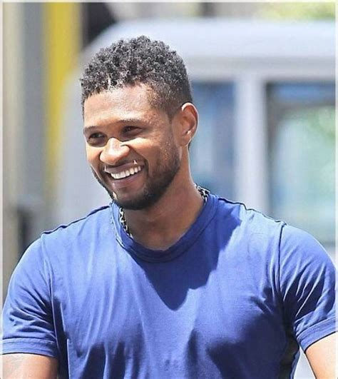 ushers haircut black man short hair curls usher hairstyle curly