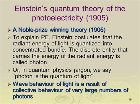 What Is A Quantum Of Light Called by Photoelectricity Classically Light Is Treated As Em Wave