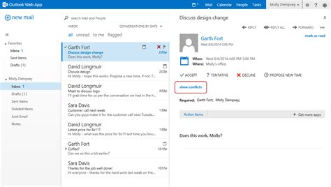 Propose New Time A New Feature For Outlook Web App In