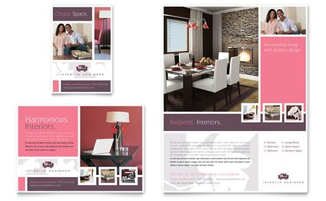 interior design company profile template word interior designer flyer ad template word publisher