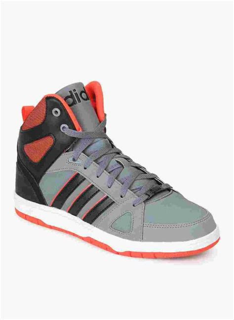 adidas neo hoops team mid mid ankle sneakers buy grey cblack solred color adidas neo hoops
