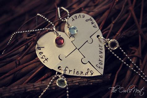 Kaos Best Friend Forever sted best friends forever and 4 puzzle necklace set on the hunt