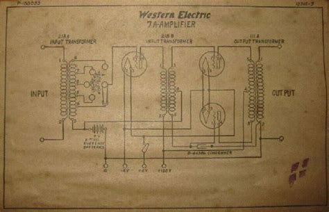 western electric 102 wiring diagram western electric 7a vintage amplifier sch service manual