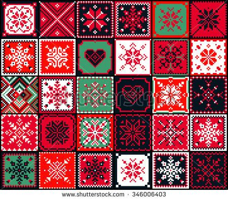 quilt pattern vector blanket stitch stock photos images pictures shutterstock