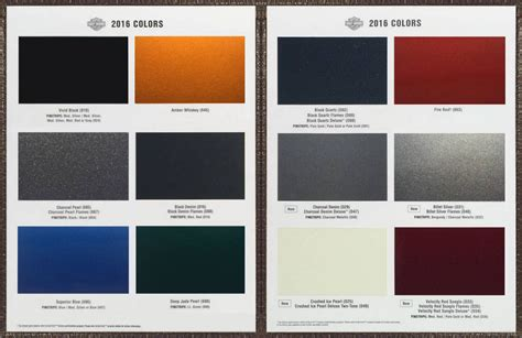 2016 harley color chart autos post