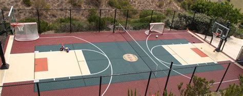 backyard basketball court dimensions backyard sport court enclosed full size basketball