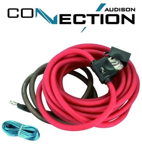 audison connection fsk 700 4awg power wire kit r35audio