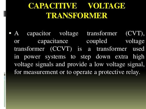 coupling capacitor voltage transformer ppt kstps ppt