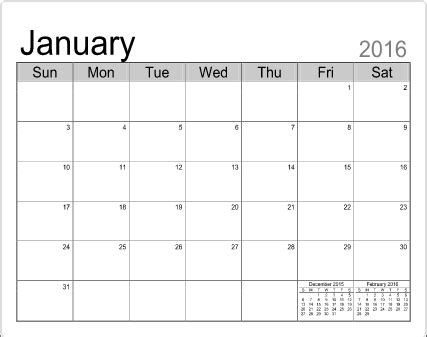 fill in calendar template | calendar month printable