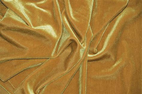 pipe and drape fabric dark gold spandex stretch velvet pipe and drape panels