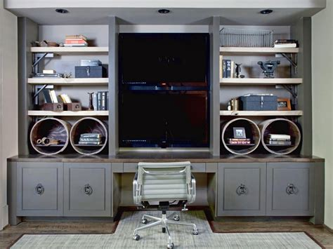 entertainment center with desk this custom built in doubles as a desk and an
