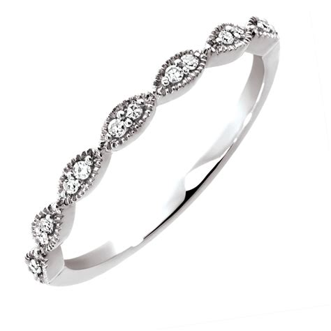Wedding Bands White Gold by Wedding Band With Diamonds In 10kt White Gold