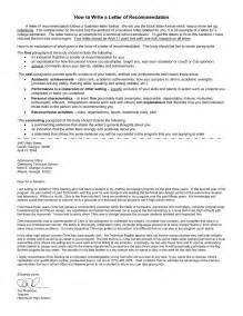 recommendation letter format letter of recommendation