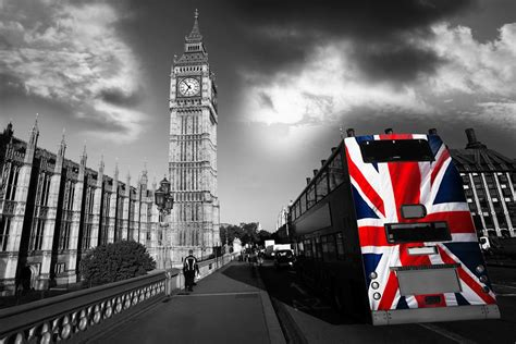 Union Jack Wall Mural london bus big ben wallpaper wall mural by loveabode com