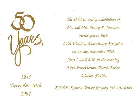 50th Wedding Anniversary Program Wording   Scene: 50th