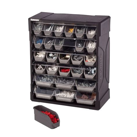 husky 28 drawer small parts organizer 222169 the home depot