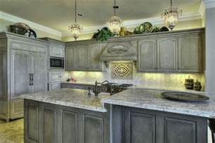 Gray kitchen cabinets combination with other colors stained cabinets