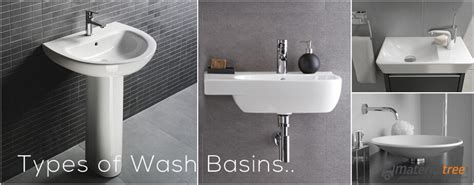 different names for bathroom types of wash basin types of bathroom sinks
