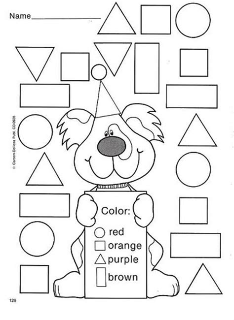 color by shape train worksheets trains and abstract