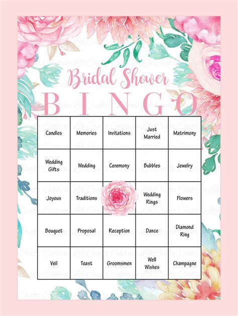bridal shower bingo card template best 25 bridal shower bingo ideas on