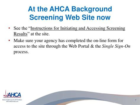 ahca background portal ppt ahca home health regulatory update powerpoint