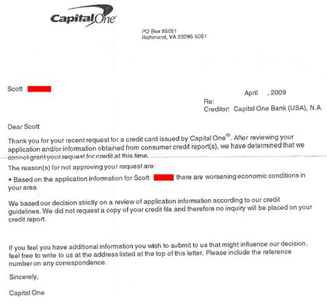 Capital One Credit Letter Page Not Found