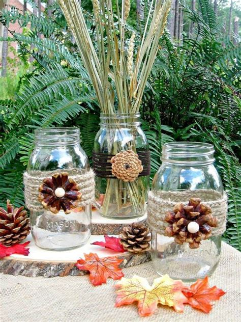 these cut up pine cone decor ideas are for fall