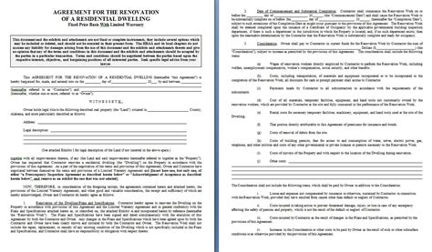 contract template free free contract templates word pdf agreements part 2
