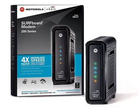 Modem Docsis 3 0 arris motorola surfboard sb6121 docsis 3 0 cable modem retail packaging ebay
