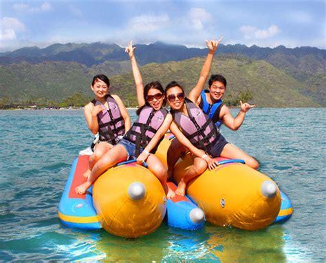 banana boat oahu banana boat ride oahu seabreeze watersports honolulu hi