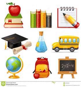 School icons royalty free stock image image 35369006