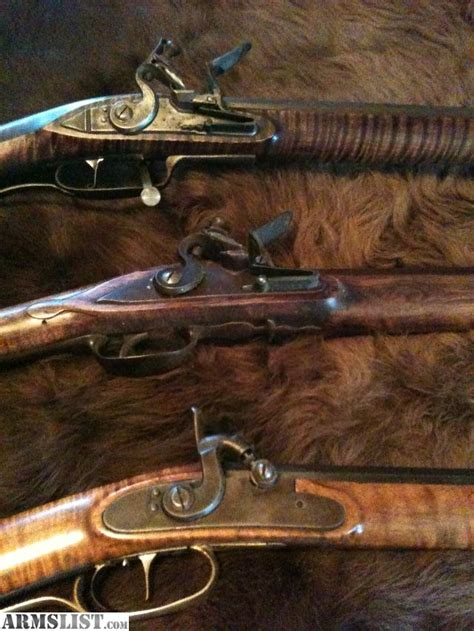 Handmade Flintlock Rifles - armslist for sale trade custom built 45 cal 54 cal