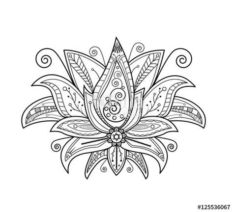 fleur de lotus mandala coloriagetv quot vector illustration of lotus flower for coloring book