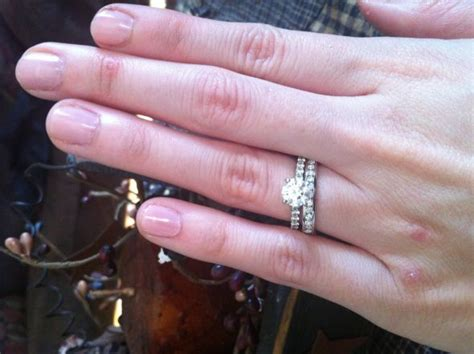 Set Avian Chenel engagement ring band width wedding tips and inspiration