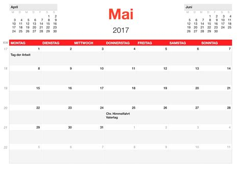 Kalender 2017 Monat Numbers Vorlage Kalender 2017 Numbersvorlagen De