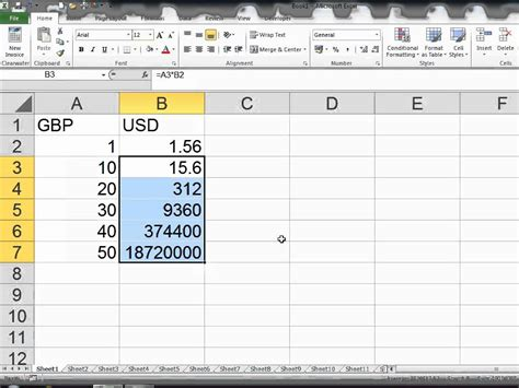 currency converter xls currency exchange rates excel 2010 youtube