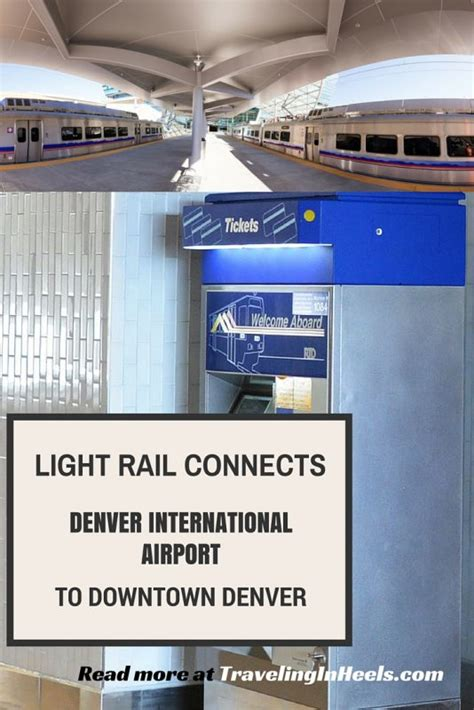 light rail to dia light rail connects denver international airport to