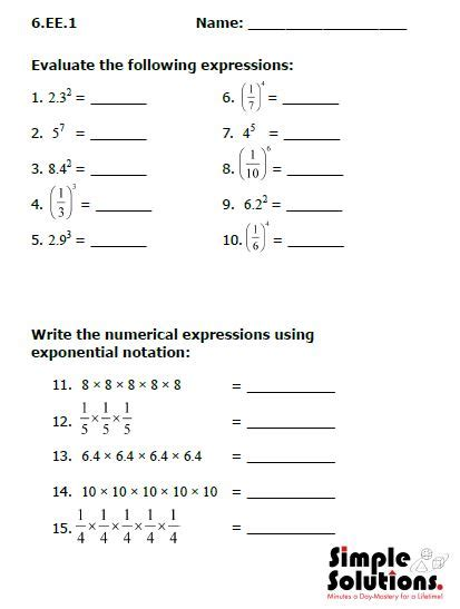Common Grade 3 Math Worksheets by 6th Grade Math Common Worksheets