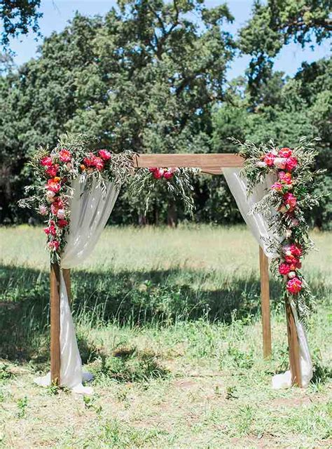 Wedding Arch Wooden by Top 12 Wedding Ceremony Arches With Flowers The Bohemian