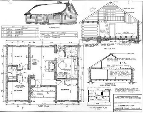 cabin blueprints 3 bedroom cabin plans free log floor and designs small