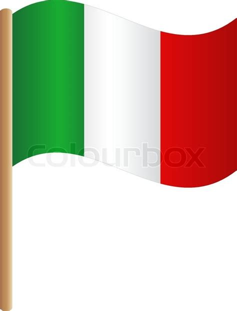Country Home Plans by Flag Italy Stock Vector Colourbox