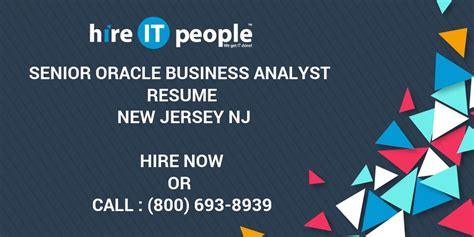 senior oracle business analyst resume new jersey nj hire